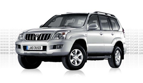Цвета Land Cruiser Prado 120