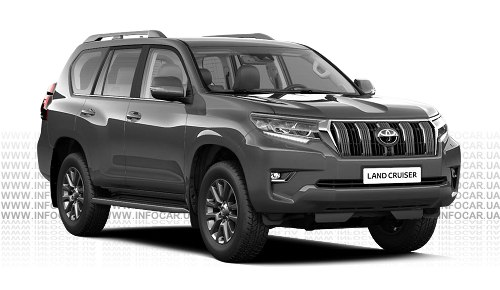 Цвета Land Cruiser Prado 150